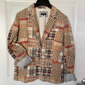 J.Crew Madras Plaid Fully Lined Jacket Blazer